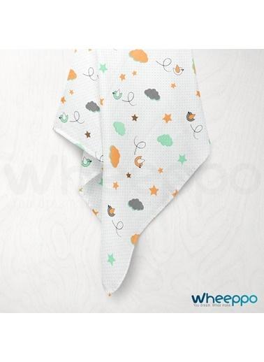 Wheeppo Mutlu Kuşlar  Müslin Örtü  120*120 Cm Renkli